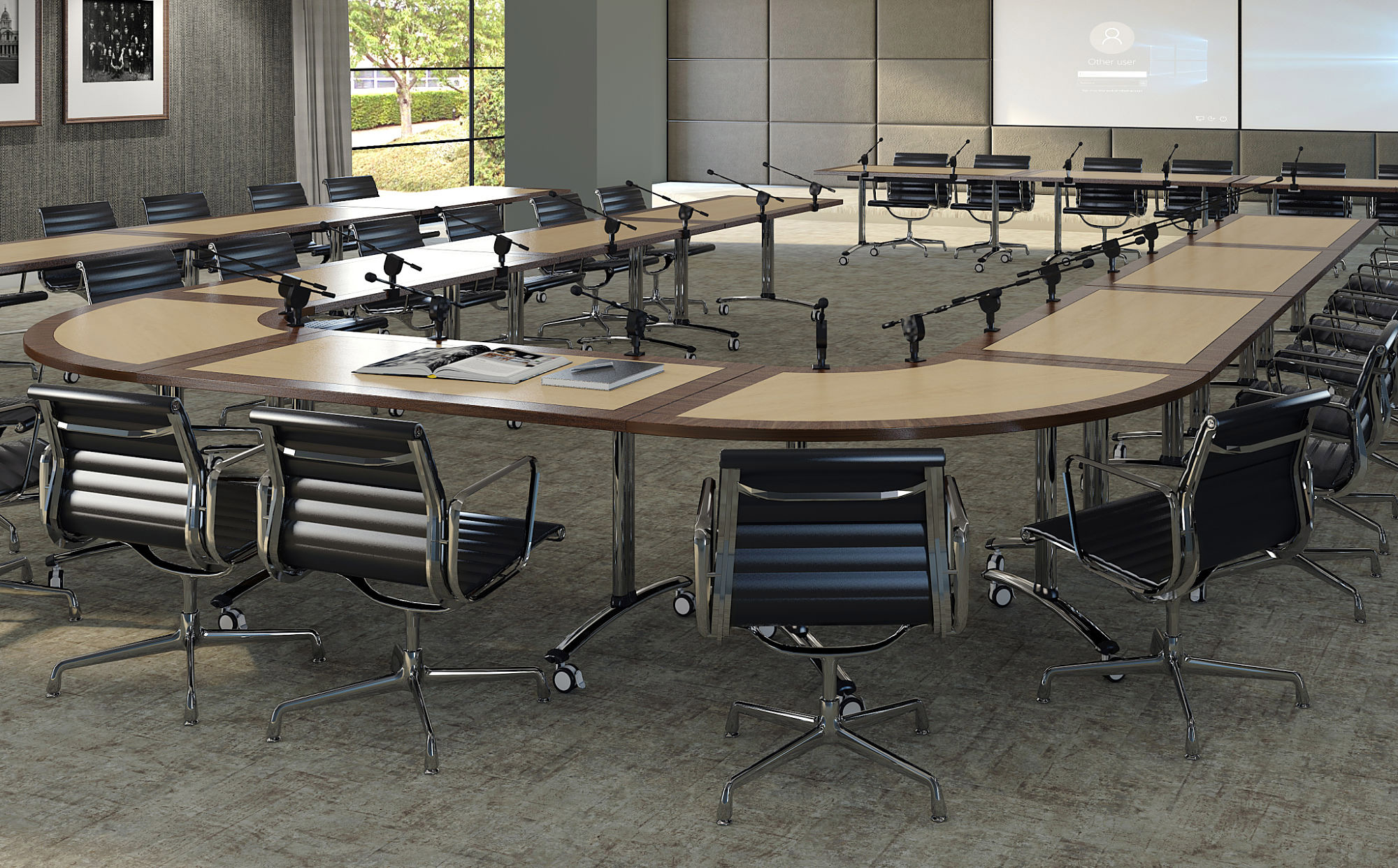 GEMINI TILT-TOP TABLES FROM EBORCRAFT GIVE CONFERENCE FURNITURE MORE FLEXIBILITY